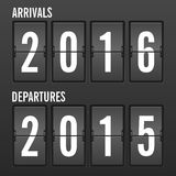 Arrivals year Stock Images