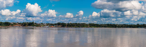 Amazon river, clouds and sky Stock Photos