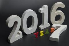Arrivar a fiumie il nuovo anno Fotografie Stock