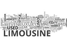 Arrive In Style Types Of Limousines You Can Rent Word Cloud Stock Images