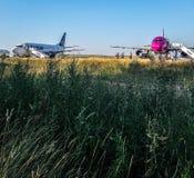 Arrivederci in aeroporto Immagini Stock Libere da Diritti