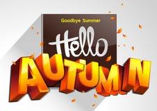 Arrivederci autunno di estate ciao illustrazione vettoriale