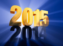 2015 Arrives Royalty Free Stock Images