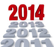 2014 Arrives Stock Images