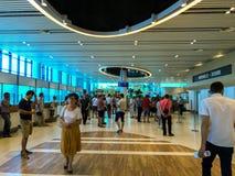 Arrivi dell'aeroporto di Chisinau fotografia stock