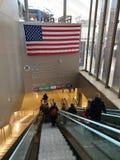 Arrivi dell'aeroporto internazionale di Los Angeles fotografia stock libera da diritti