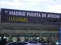 Arrivi della stazione ferroviaria di Madrid Atocha Fotografia Stock