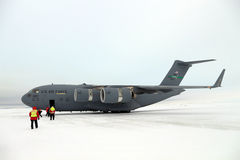 Arriving in Antarctica on a C17 Royalty Free Stock Photography