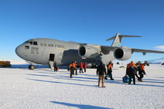 Arriving in Antarctica Stock Images