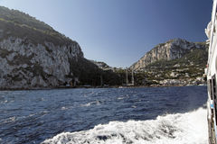 Arriving in Capri Island Royalty Free Stock Photography