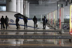 The arriving CRH. In hangzhou east station Royalty Free Stock Image