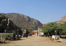 Arriving in Galta Temple, India Royalty Free Stock Photos