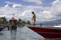 Arriving in Gili Island Stock Photography