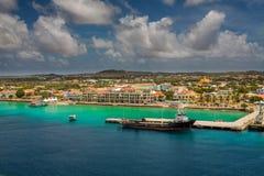 Arriving at Kralendijk, Bonaire Royalty Free Stock Photography