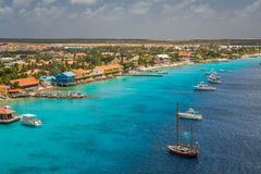 Arriving at Kralendijk, Bonaire. Capture from Ship at the Capital of Bonaire, Kralendijk in this beautiful island of the Caribbean Netherlands, with its stock photos