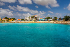 Arriving at Kralendijk, Bonaire. Capture from Ship at the Capital of Bonaire, Kralendijk in this beautiful island of the Caribbean Netherlands, with its royalty free stock photography