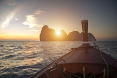 Arriving at maya bay Royalty Free Stock Photography