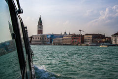 Arriving at San Marcos in Venice in a bright shiny day Stock Photo