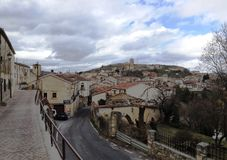 Arriving in Sepulveda. Sepulveda is a medieval town in Segovia region, Castile and Leon, Spain Stock Image
