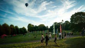 Arriving to Bristol Balloon Fiesta 2016 Stock Photo