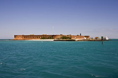 Arriving to Fort Jefferson Royalty Free Stock Photos