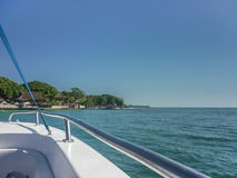 Arriving to Paradise Island in Cartagena Royalty Free Stock Photography