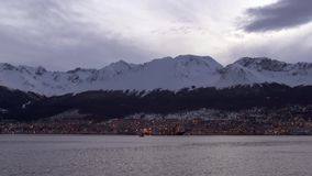Arriving To The Southernmost City In The World. Filmed in Ushuaia, Tierra del Fuego, in Patagonia, Argentina. Ushuaia is the capital of Tierra del Fuego, Antá stock video