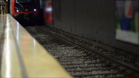 Arrivo della metropolitana stock footage