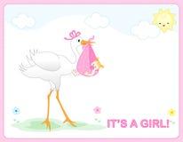 Arrivo della neonata illustrazione di stock