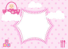 Arrivo della neonata Fotografie Stock