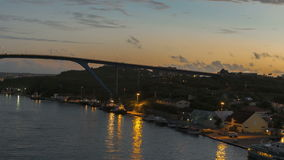 Arrivo di Timelapse a porto Willemstad Curacao stock footage