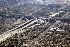 Arrivo a Los Angeles fotografia stock libera da diritti
