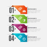 Arro Option Infographic. Vector illustration of arrow option infographic design element Stock Image