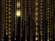 Arrobas douradas moventes 053 Imagem de Stock