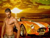 Shelby Cobra and man Stock Photo