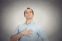 Arrogant aggressive bold self important uppity stuck up man Royalty Free Stock Photo