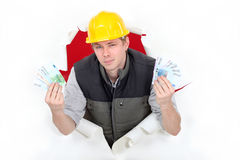 Arrogant builder Royalty Free Stock Photography