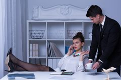 Arrogant business woman Stock Photos