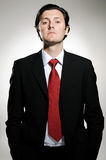 Arrogant businessman portrait Royalty Free Stock Photos