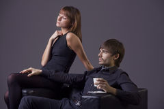 Arrogant couple Royalty Free Stock Images