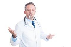 Arrogant doctor or medic smoking a cigarette Stock Images