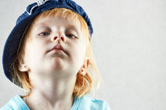 Arrogant liten flicka Arkivfoton