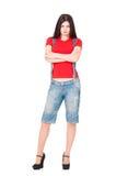 Arrogant meisje Stock Foto's