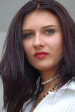 Arrogant Sight Girl. Close-up Portrait Stock Photo