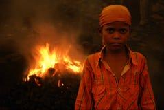 Arrogant Slum Boy Royalty Free Stock Photo