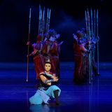 Arrogant-vier handeling ` belemmerde inklaring ` - Epische de Zijdeprinses ` van het dansdrama ` stock fotografie