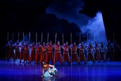 Arrogant-vier handeling ` belemmerde inklaring ` - Epische de Zijdeprinses ` van het dansdrama ` royalty-vrije stock afbeelding