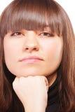 Arrogante brunette Stock Afbeelding