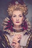 Arrogante koningin royalty-vrije stock afbeelding