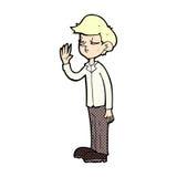 arroganter Junge der komischen Karikatur Stockfotos
